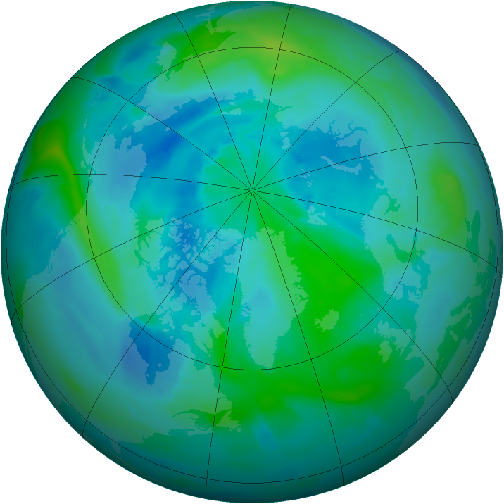 Arctic ozone map for 10 September 2011