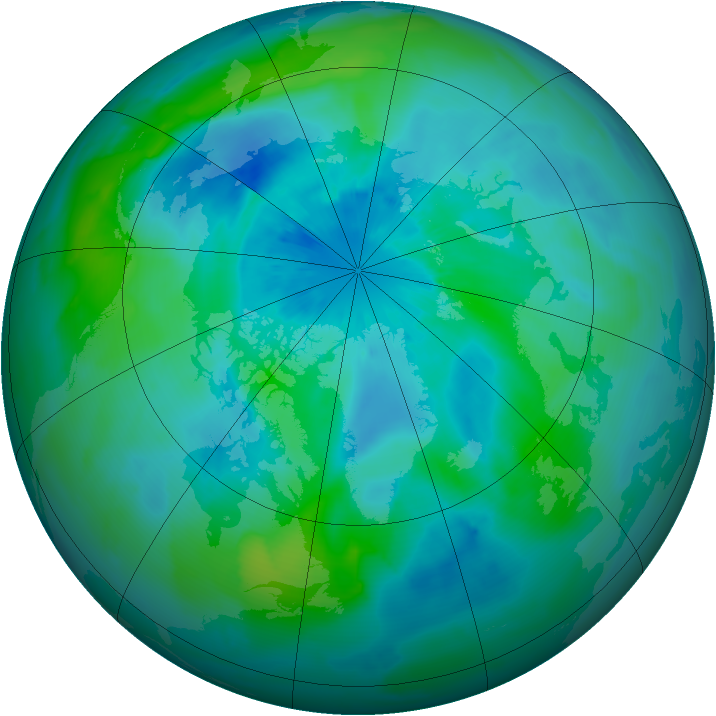 Arctic ozone map for 17 September 2011