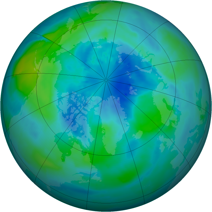 Arctic ozone map for 22 September 2011