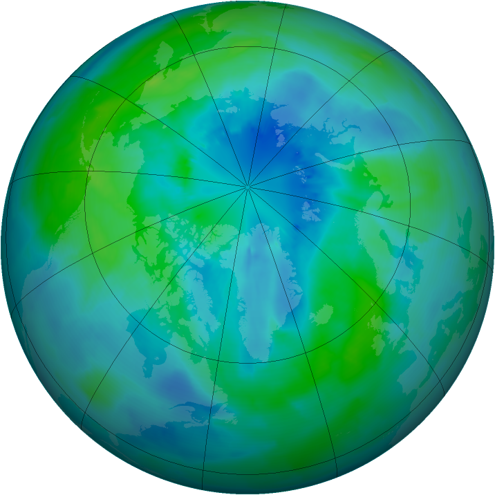 Arctic ozone map for 26 September 2011