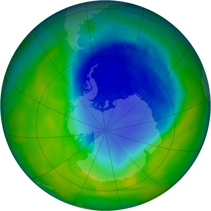 Antarctic ozone map for 23 November 2011