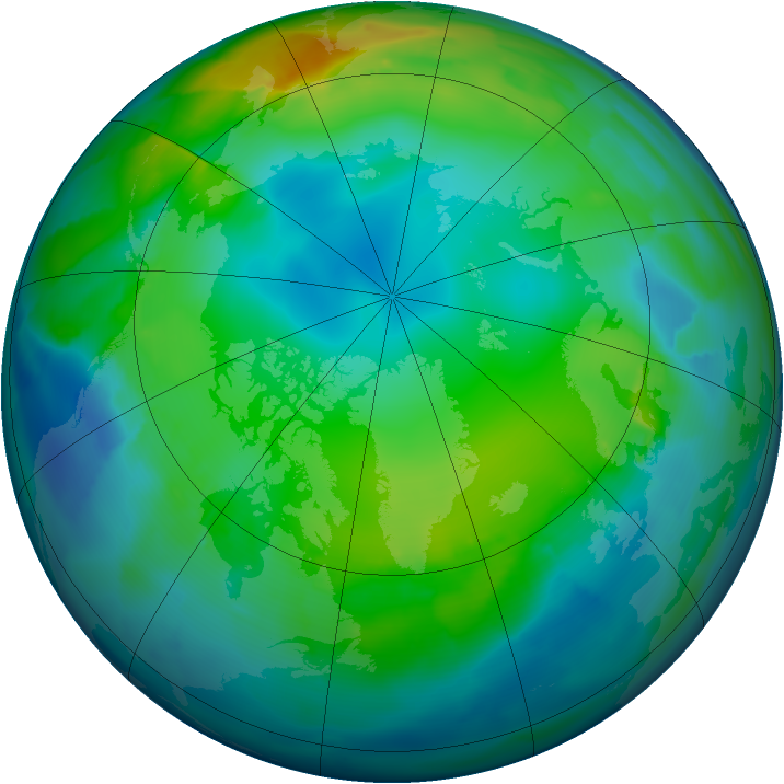 Arctic ozone map for 26 November 2011