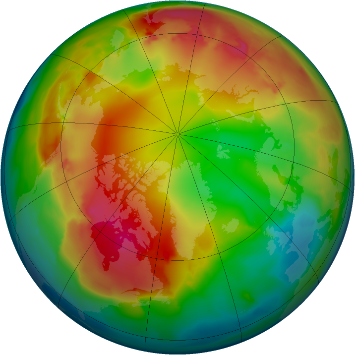 Arctic ozone map for 21 January 2012