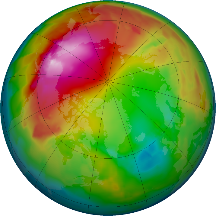 Arctic ozone map for 27 January 2012
