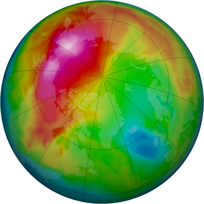 Arctic ozone map for 28 January 2012