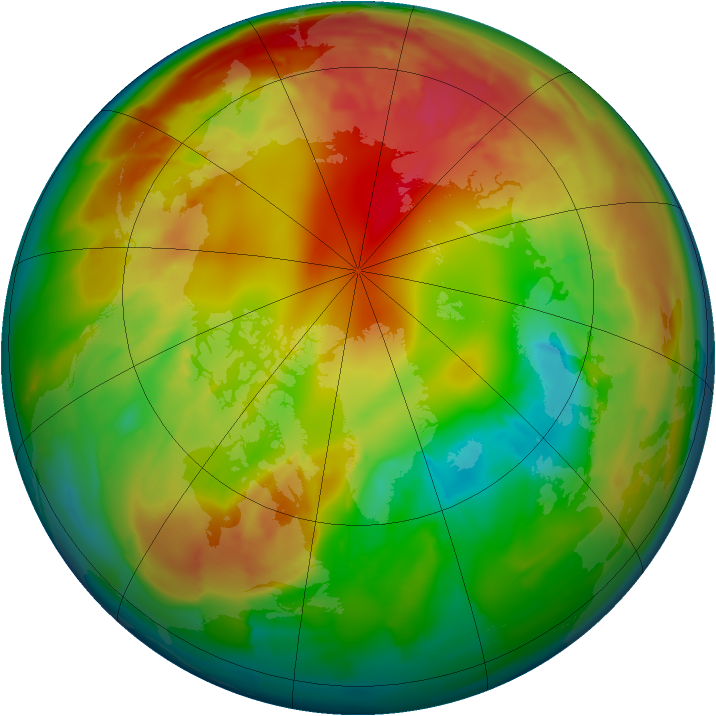 Arctic ozone map for 11 February 2012