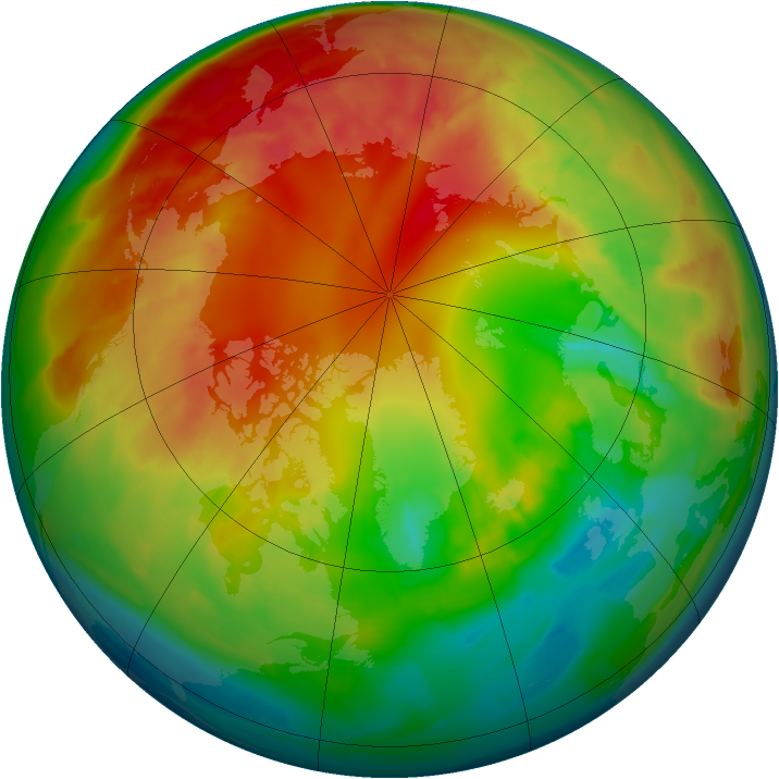 Arctic ozone map for 17 February 2012
