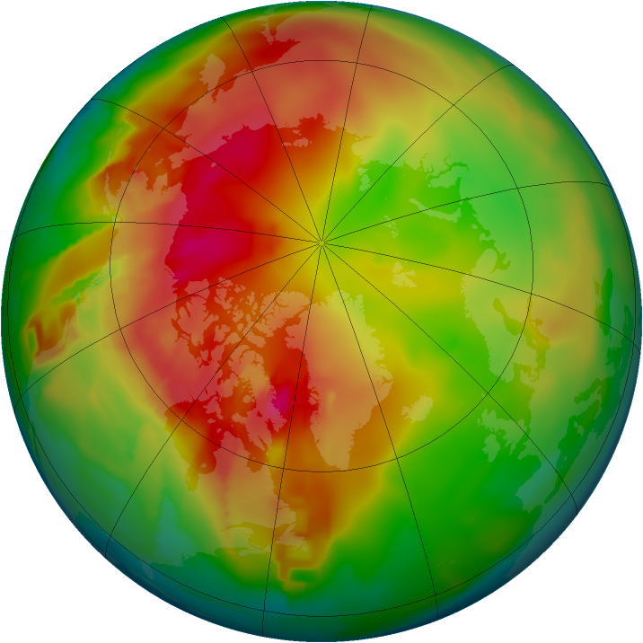 Arctic ozone map for 26 February 2012