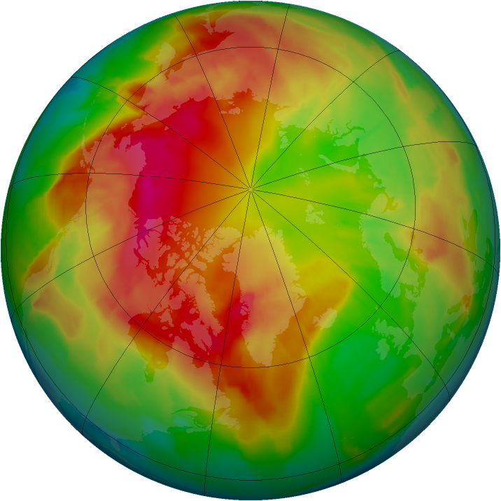 Arctic ozone map for 27 February 2012