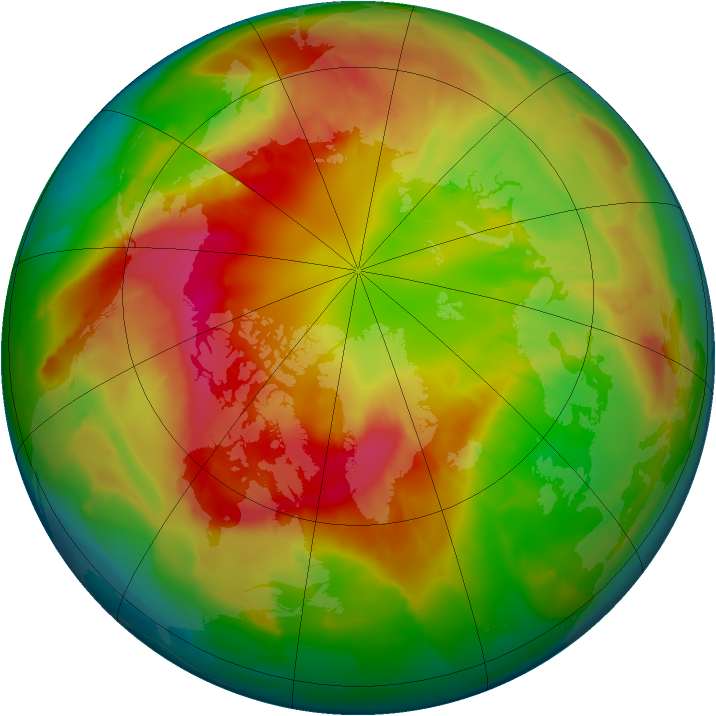Arctic ozone map for 28 February 2012