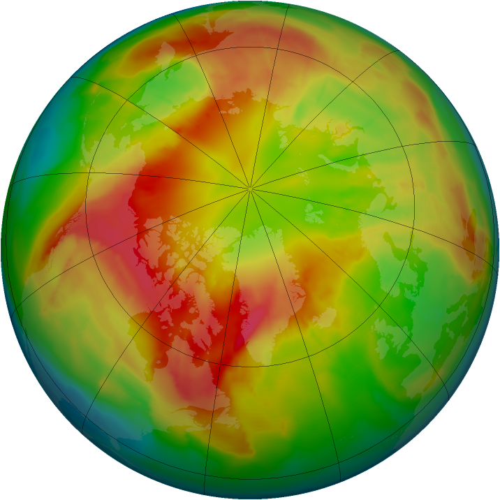 Arctic ozone map for 29 February 2012