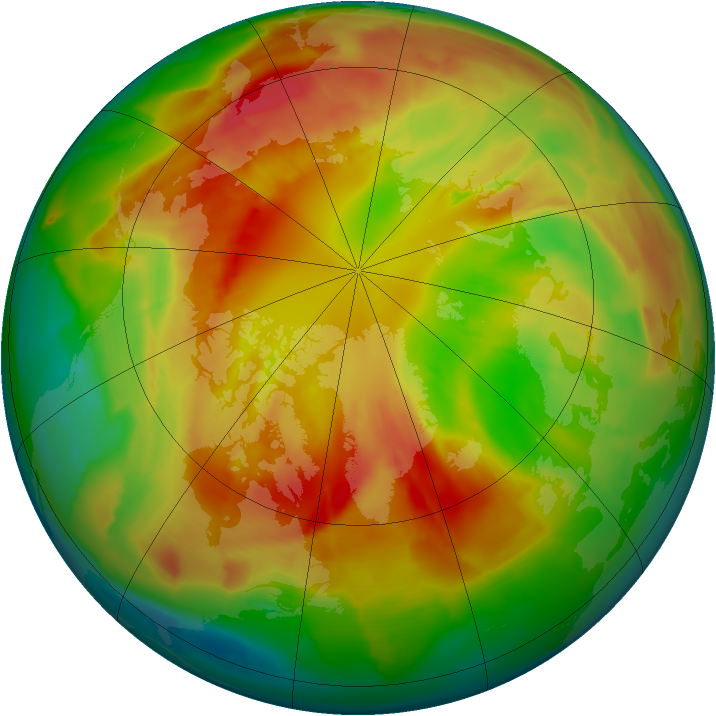 Arctic ozone map for 03 March 2012