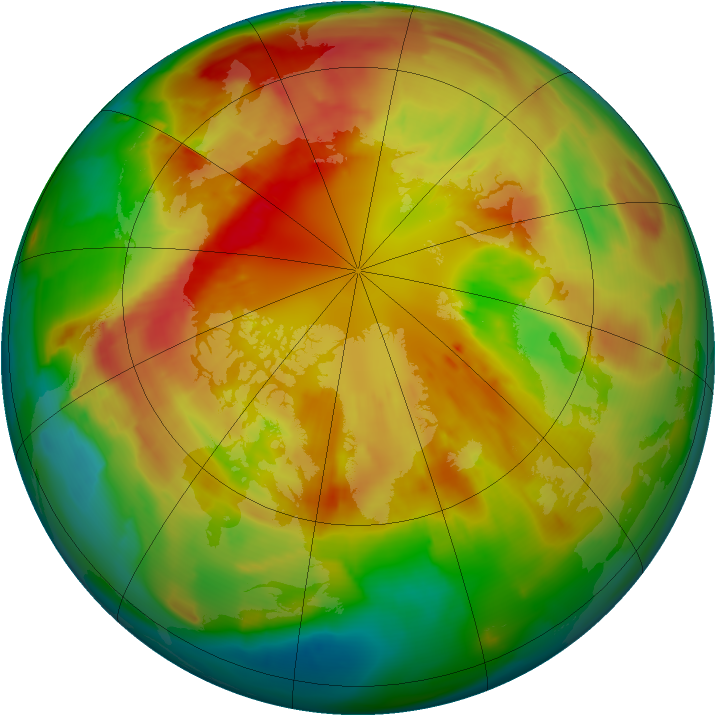 Arctic ozone map for 05 March 2012