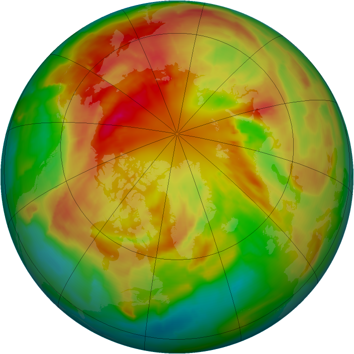 Arctic ozone map for 06 March 2012