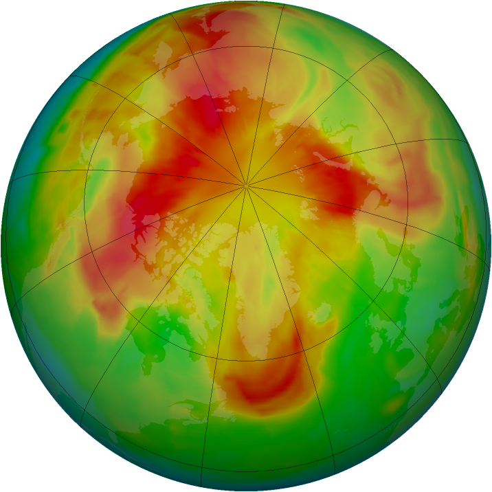 Arctic ozone map for 14 March 2012
