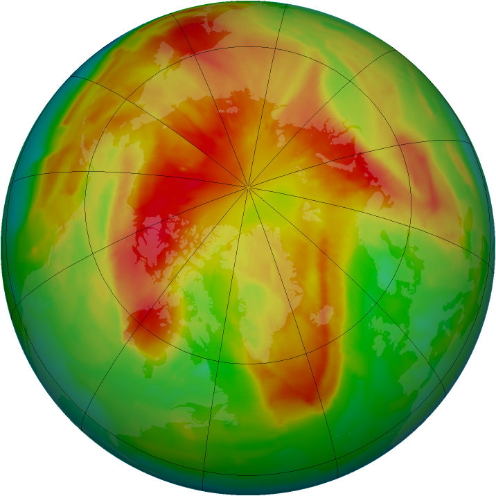 Arctic ozone map for 15 March 2012