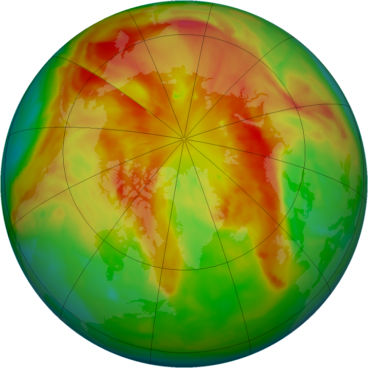 Arctic ozone map for 17 March 2012