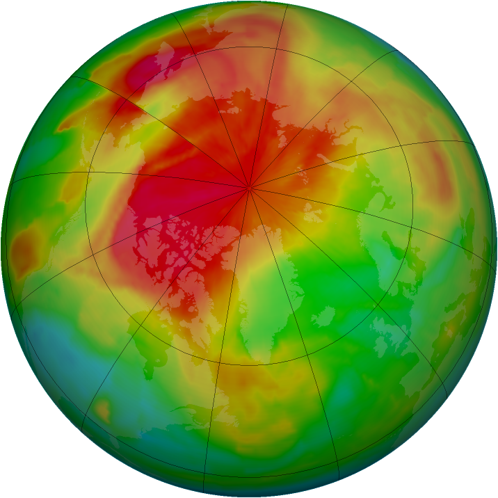 Arctic ozone map for 24 March 2012