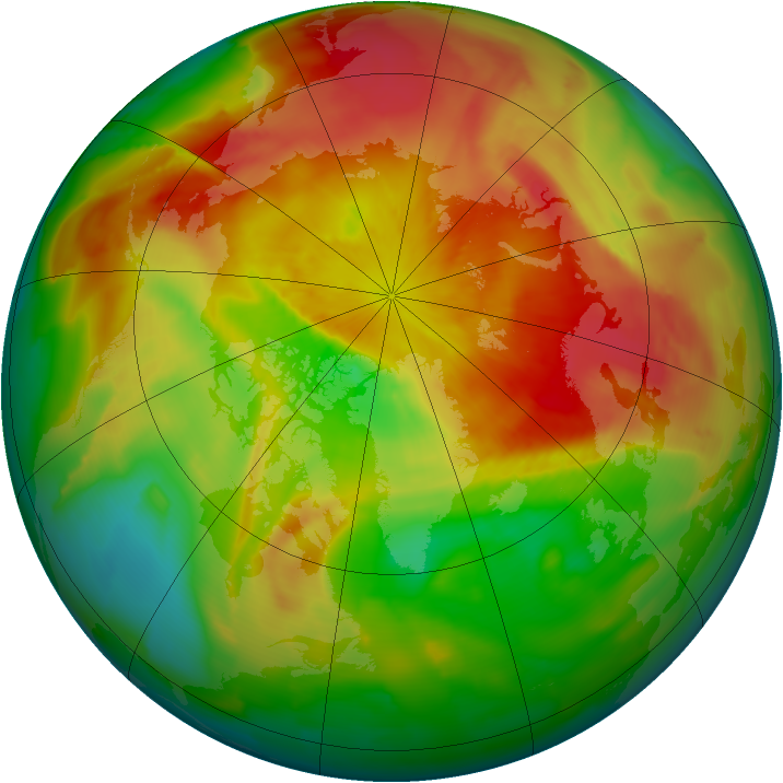 Arctic ozone map for 01 April 2012