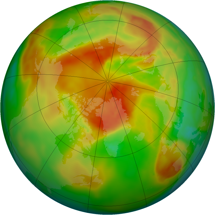 Arctic ozone map for 29 April 2012