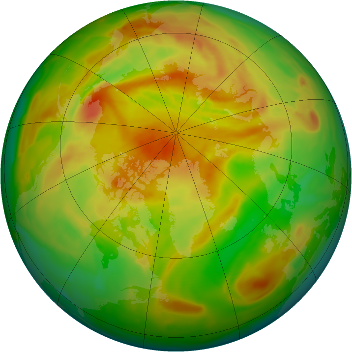 Arctic ozone map for 02 May 2012