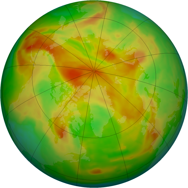 Arctic ozone map for 05 May 2012