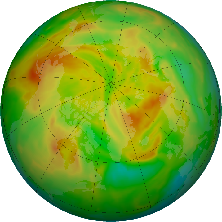 Arctic ozone map for 13 May 2012