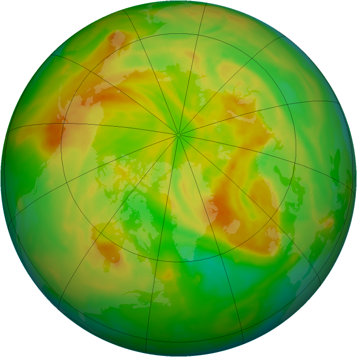 Arctic ozone map for 14 May 2012