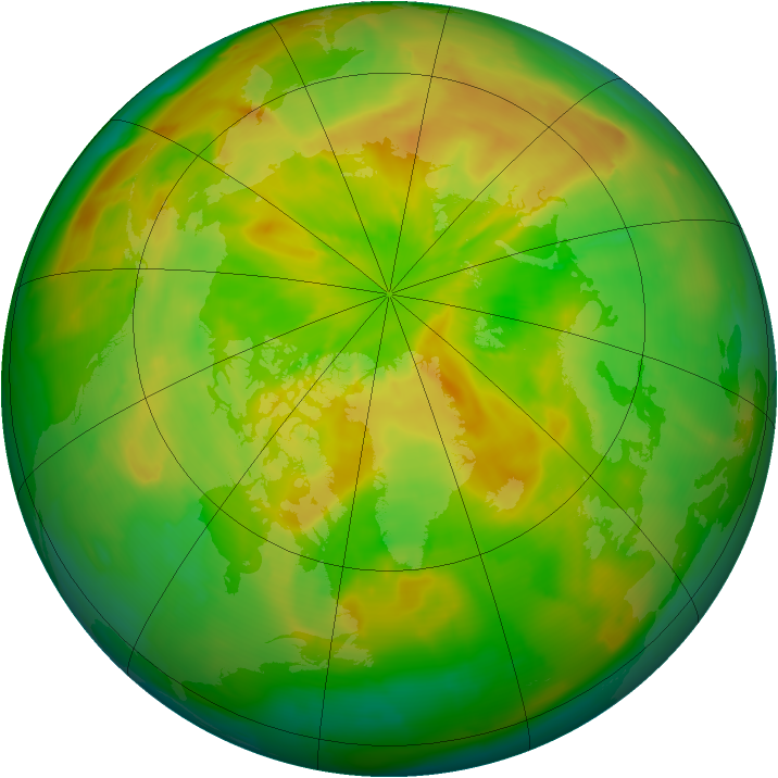 Arctic ozone map for 19 May 2012