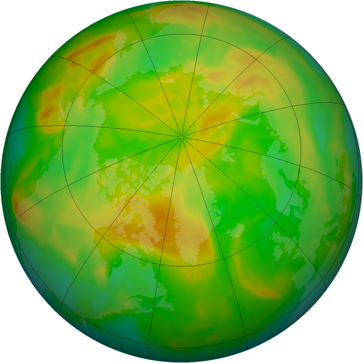 Arctic ozone map for 25 May 2012