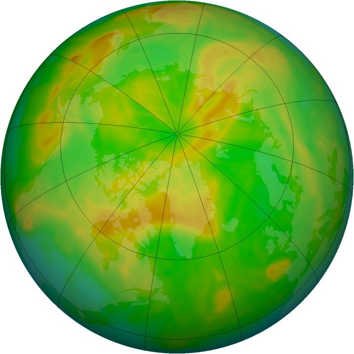 Arctic ozone map for 26 May 2012