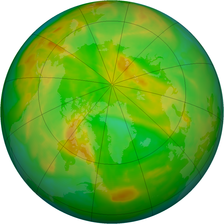 Arctic ozone map for 29 May 2012