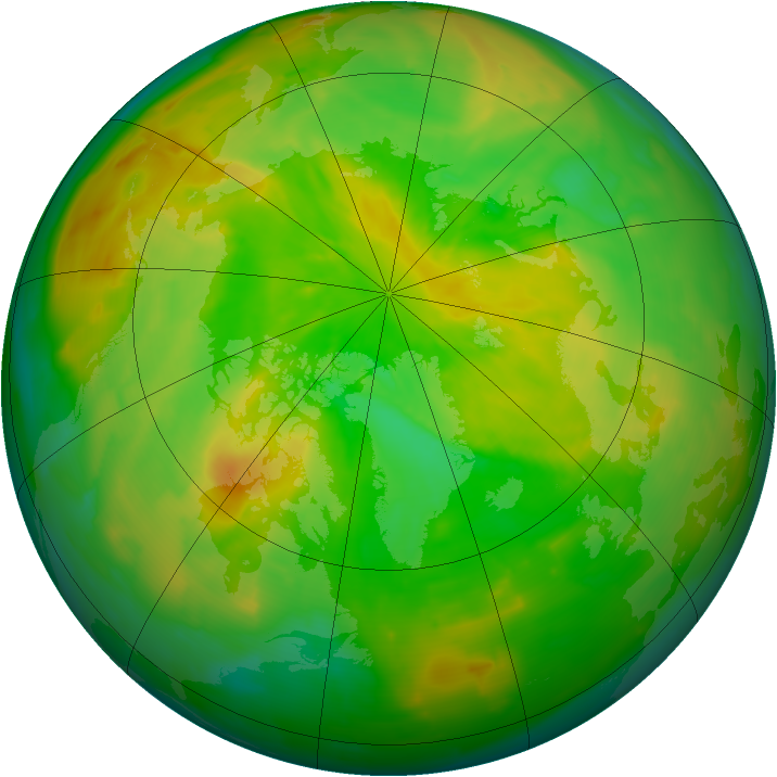 Arctic ozone map for 30 May 2012