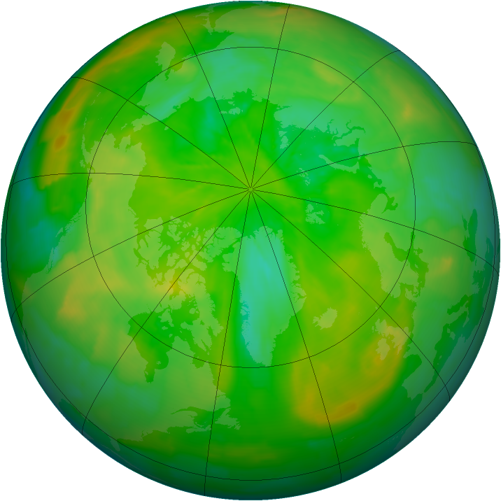 Arctic ozone map for 15 June 2012