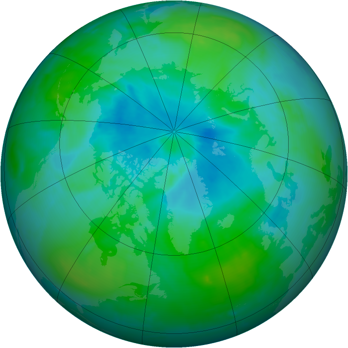 Arctic ozone map for 19 August 2012
