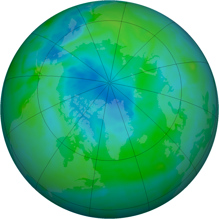 Arctic ozone map for 23 August 2012