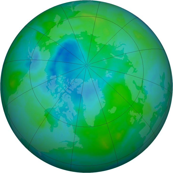 Arctic ozone map for 26 August 2012
