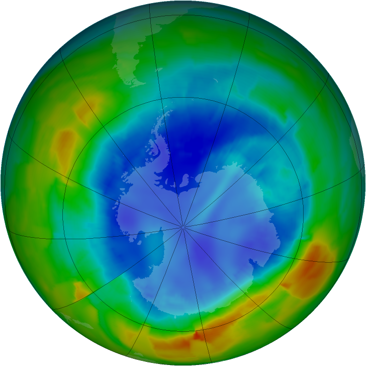Antarctic ozone map for 28 August 2012