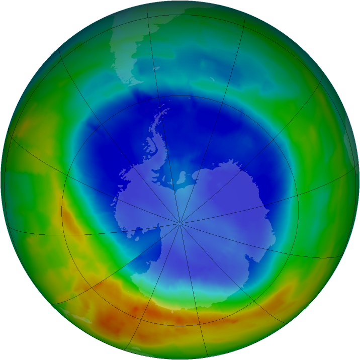 Antarctic ozone map for 08 September 2012