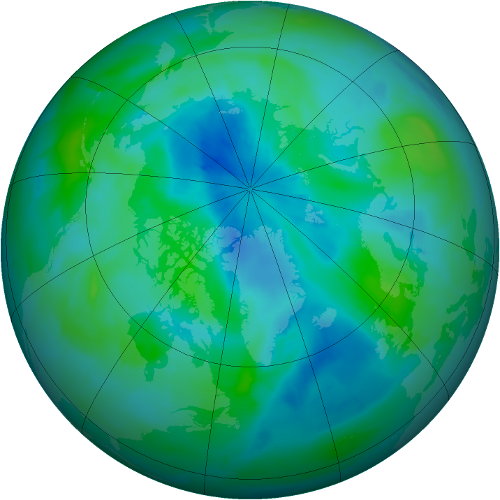 Arctic ozone map for 12 September 2012