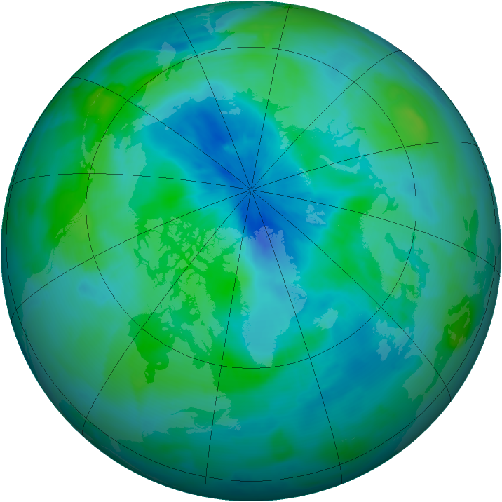 Arctic ozone map for 14 September 2012