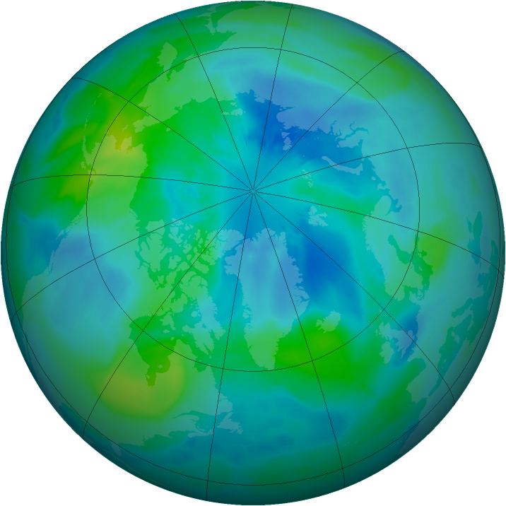 Arctic ozone map for 23 September 2012