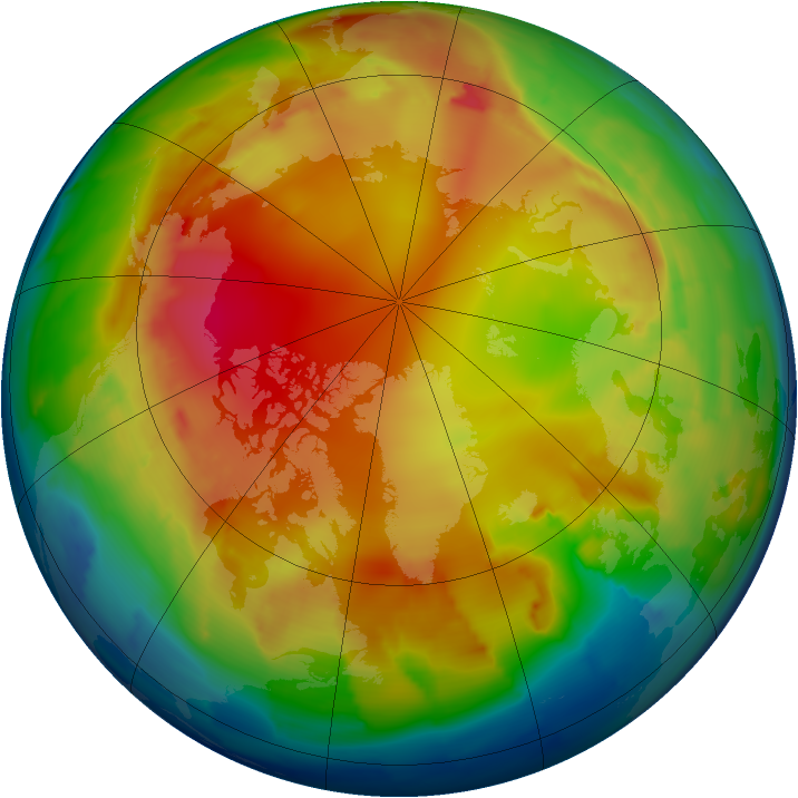 Arctic ozone map for 26 January 2013