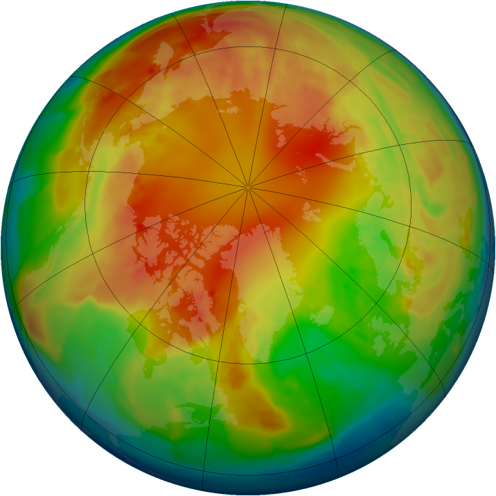 Arctic ozone map for 20 February 2013