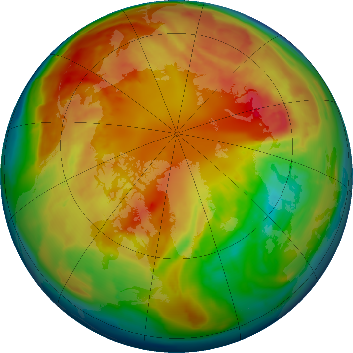 Arctic ozone map for 27 February 2013