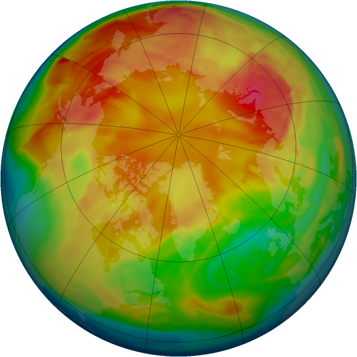 Arctic ozone map for 01 March 2013