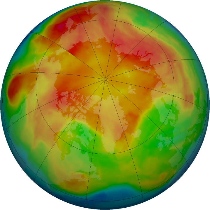 Arctic ozone map for 04 March 2013