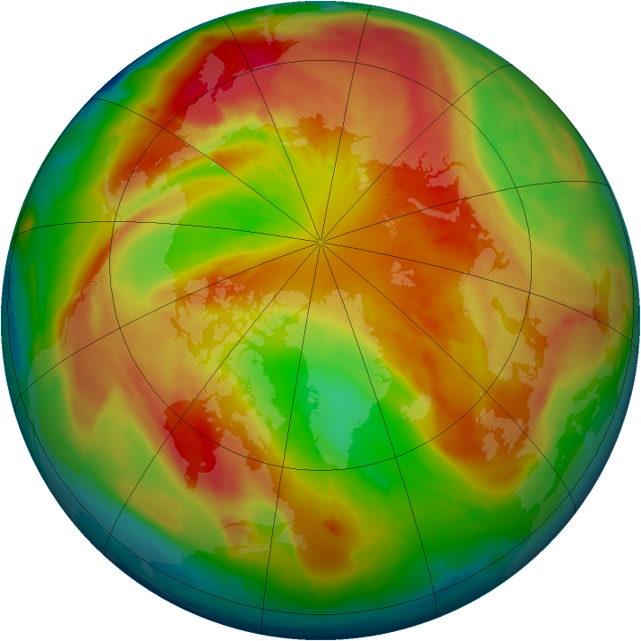 Arctic ozone map for 17 March 2013