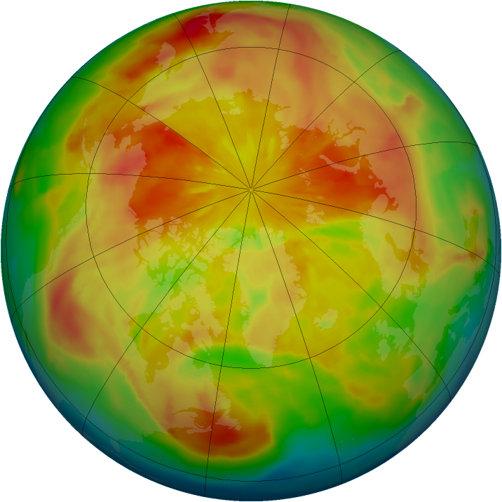 Arctic ozone map for 23 March 2013