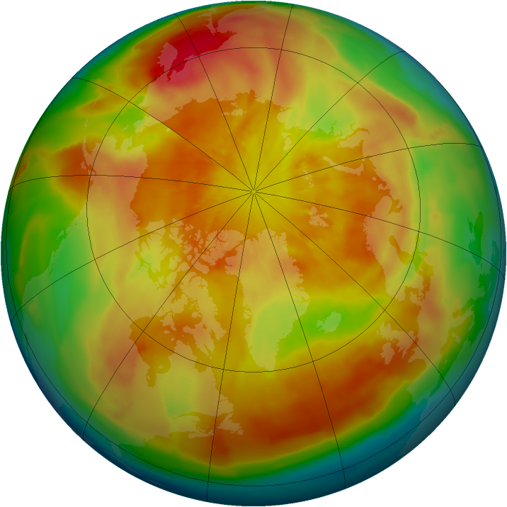 Arctic ozone map for 31 March 2013